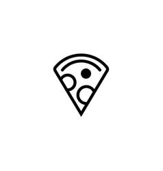 slice pizza icon vector image