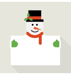Snowman greeting vector image