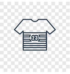 soccer jersey concept linear icon isolated on vector image