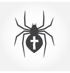 Spider outline icon vector image