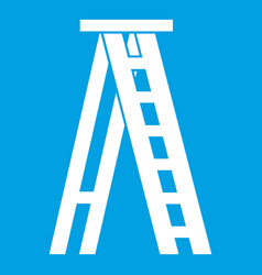 stepladder icon white vector image