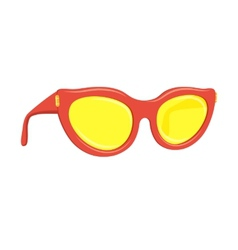 Sun glasses summer accessory vector image