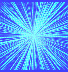 sun rays pop art retro background vector image