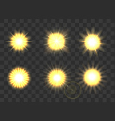 suns on transparent background vector image