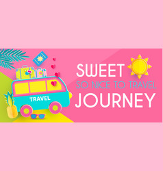 Sweet journey vacation and travel design template vector