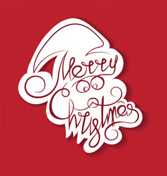 text and curls in the form of santa claus vector image