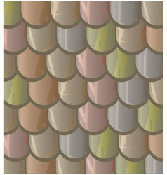 Texture of seamless clay roof tiles slate vector