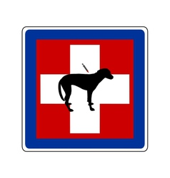 traffic sign for sick dogs vector image vector image