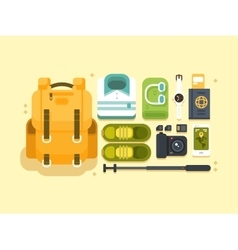Travel or vacation accessories vector