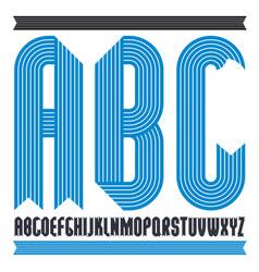 Trendy capital alphabet letters abc collection vector