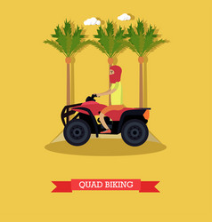 trip to egypt quad biking concept flat vector image