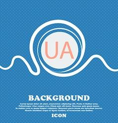 Ukraine sign icon symbol UA navigation Blue and vector