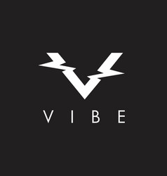 V initial vibe concept vector