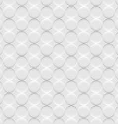 White background seamless pattern with circles vector