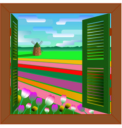 window to holland vector image