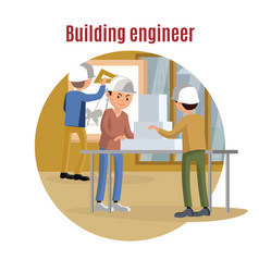 building engineering concept vector image vector image