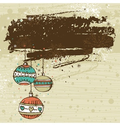 color background with christmas balls vector image vector image