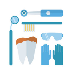 dentist stomatology equipment vector image vector image