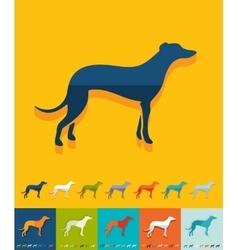 Flat design greyhound vector