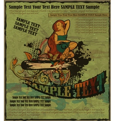 retro grunge poster vector image vector image