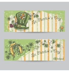 Set of horizontal banners for St Patricks Day vector image