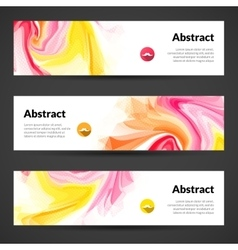 Abstract banners set design template vector image