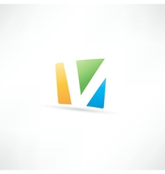Abstract icon based on the letter V vector image