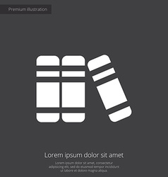 books premium icon white on dark background vector image