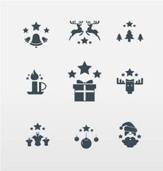 Christmas icons for Christmas vector image