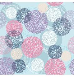 Cute seamless polka dot circle pattern vector