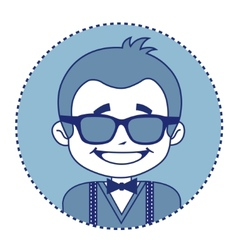 Fashionable and happy showman in sunglasses vector