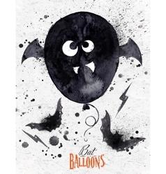 Poster halloween balloon vector