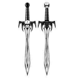 fantasy swords vector image vector image