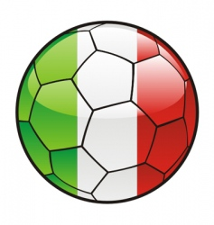 flag of Italy on soccer ball vector image