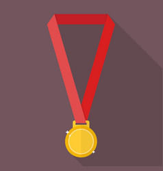 gold medal in flat style vector image vector image