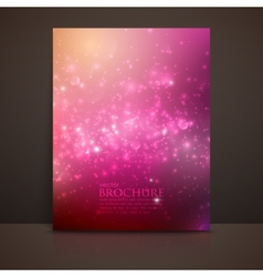 multicolored sparkling background with glowing vector image