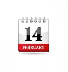 red calendar vector image vector image