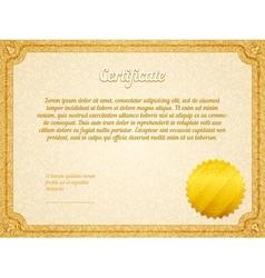 retro frame certificate template vector image