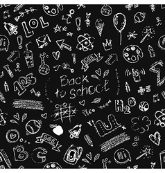 seamless doodle school pattern vector image