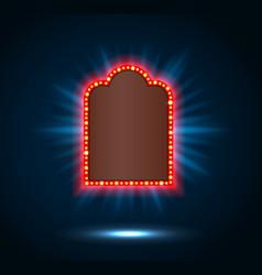 shining spotlight on billboard sign vector image