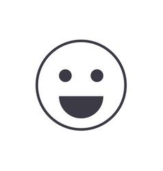 smile emoji line icon sign vector image