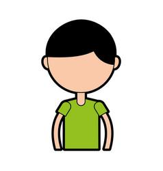 upper body boy cartoon vector image