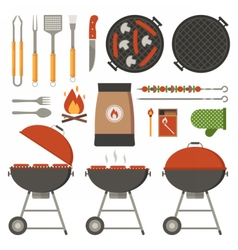 Barbecue Tools Collection vector image vector image