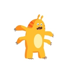 Childish Monster With Four Arms vector image
