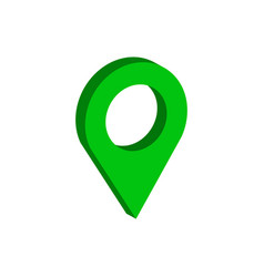 map pointer symbol flat isometric icon or logo 3d vector image