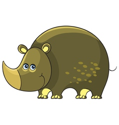 Rhino Cartoon african wild animal character vector image
