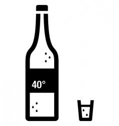 vodka vector image vector image