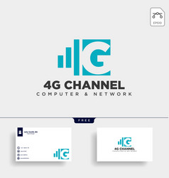 4g network creative logo template icon element vector