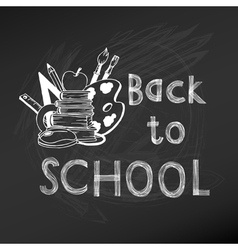 Back to School Chalkboard - hand-drawn vector image