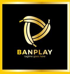 banana play logo vector image